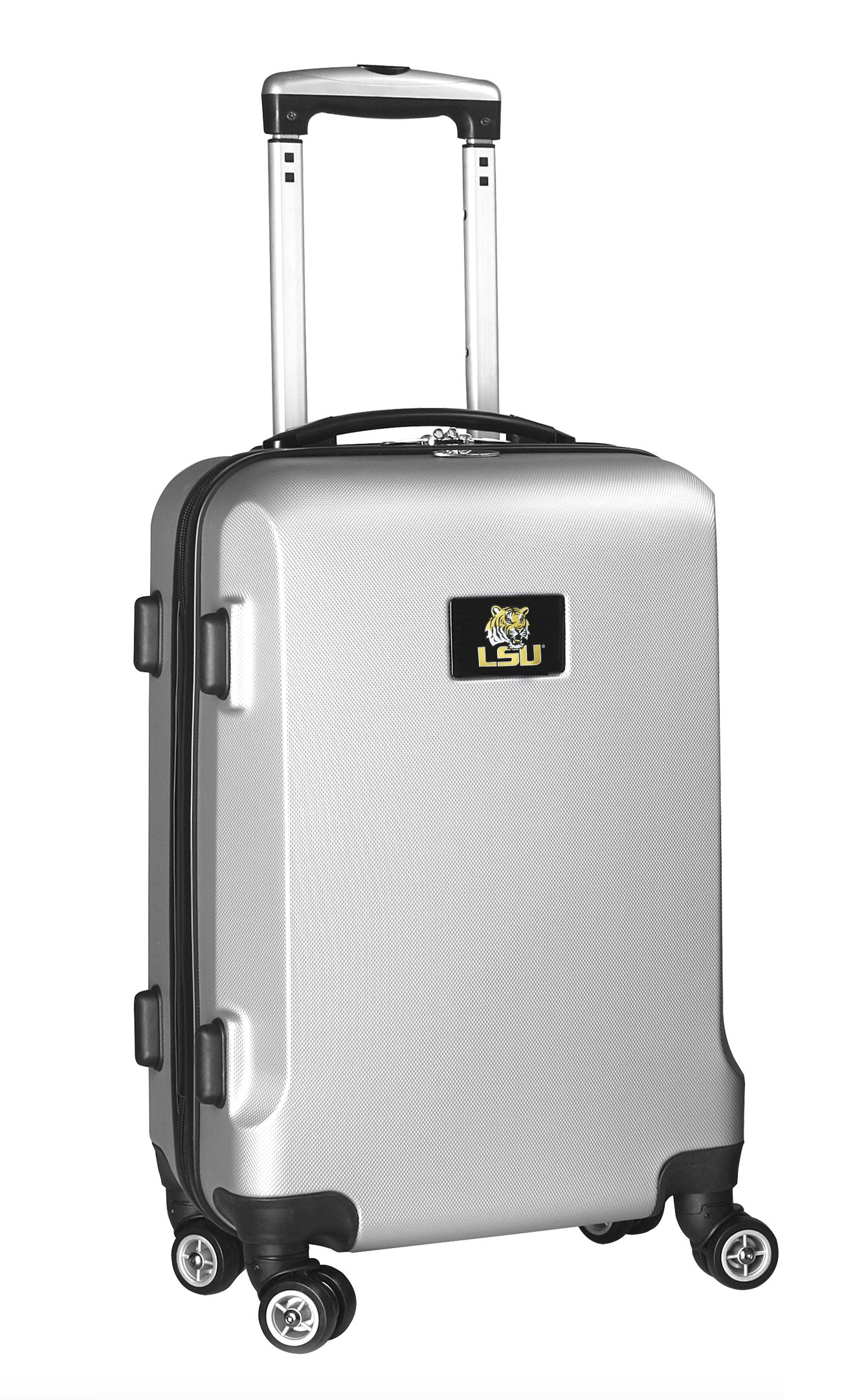 NCAA LSU Tigers Carry-On Hardcase Spinner, Silver by Denco
