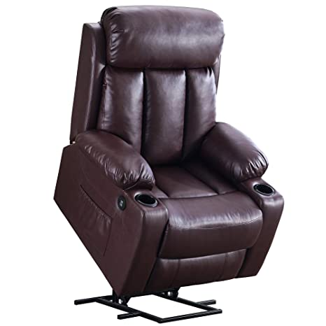 Terrific Mcombo Oversized Electric Power Lift Recliner Chair Sofa For Elderly Big And Tall People 3 Positions 2 Side Pockets And Cup Holders Usb Ports Faux Beatyapartments Chair Design Images Beatyapartmentscom