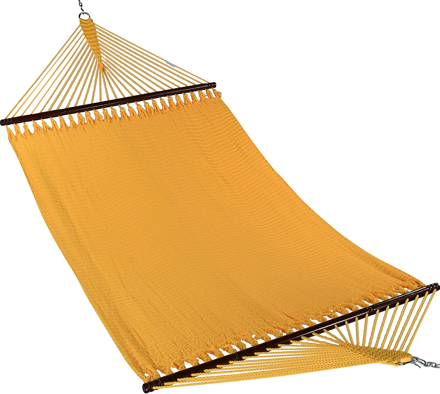 "Caribbean Hammocks 55"" Wide Jumbo Caribbean Hammock - Yellow - 600 lb Weight Capacity"