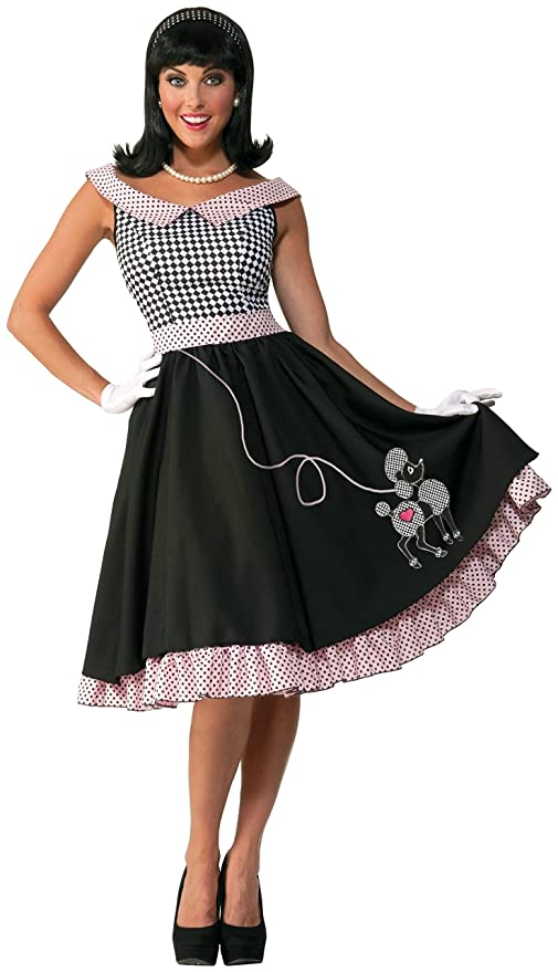 1950s Costumes- Poodle Skirts, Grease, Monroe, Pin Up, I Love Lucy Forum Novelties Womens 50s Checkered Cutie Costume $49.99 AT vintagedancer.com