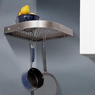 product image for Enclume Premier Large 16-Inch Corner Pot Rack, Hammered Steel