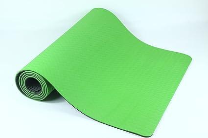 Dharmat TPE YOGA MAT - eco riendly yoga mat double layerd 6 mm 72