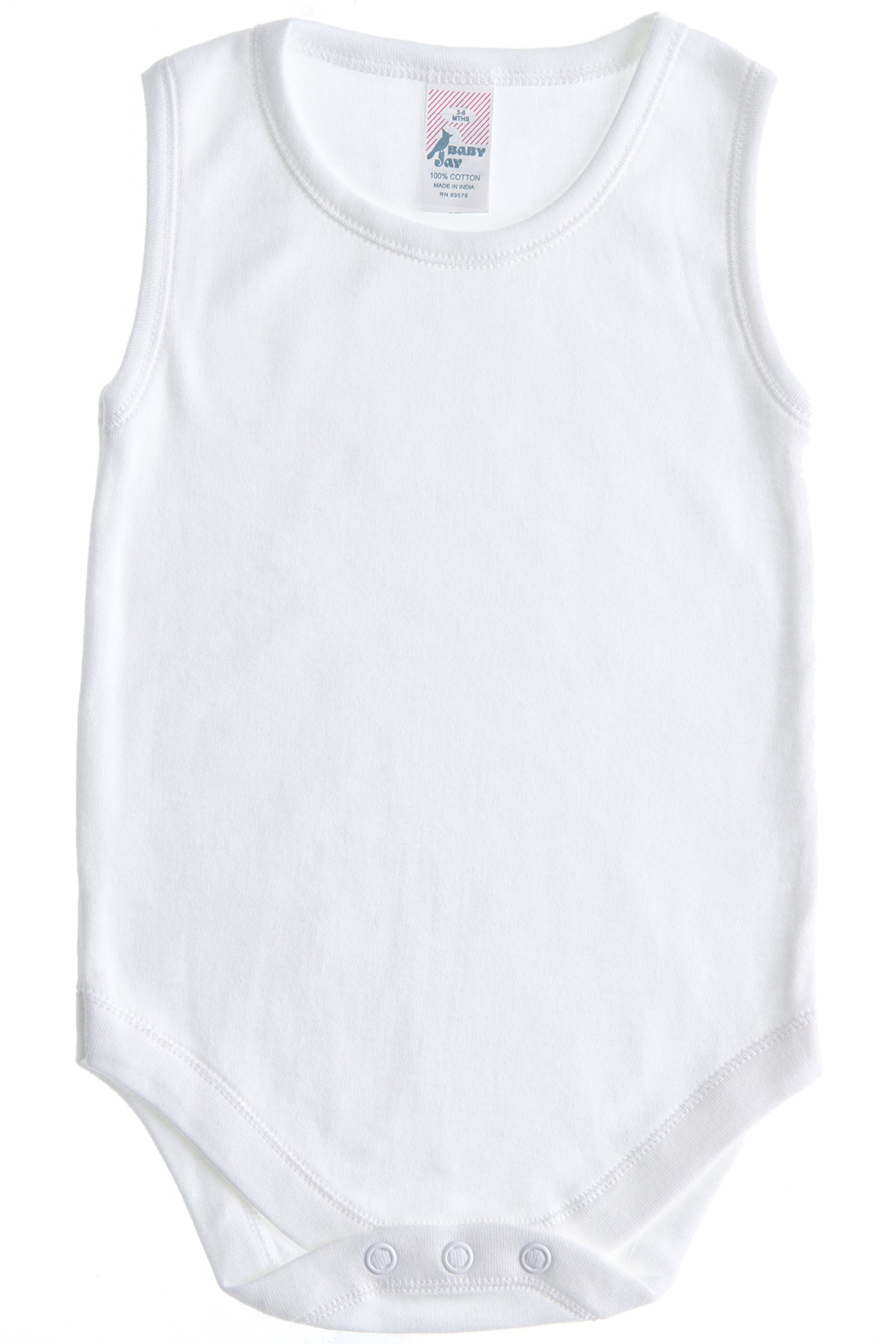 Soft Cotton Sleeveless Onesie Bodysuit, WSNR 36-48 2-Pack by Baby Jay (Image #2)
