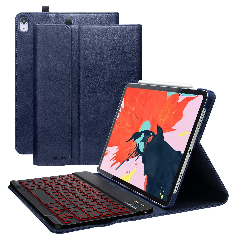 新作モデル iPad Pro B07KWV6JGT 11インチキーボードケース2018(ペンシルホルダーとポケット付き)、取り外し可能なタブレットシェルレザー Pro、ワイヤレスキーボードとスマートコネクタ、傷防止フルボディ保護カバー(紺) B07KWV6JGT, 多良木町:420239e6 --- a0267596.xsph.ru
