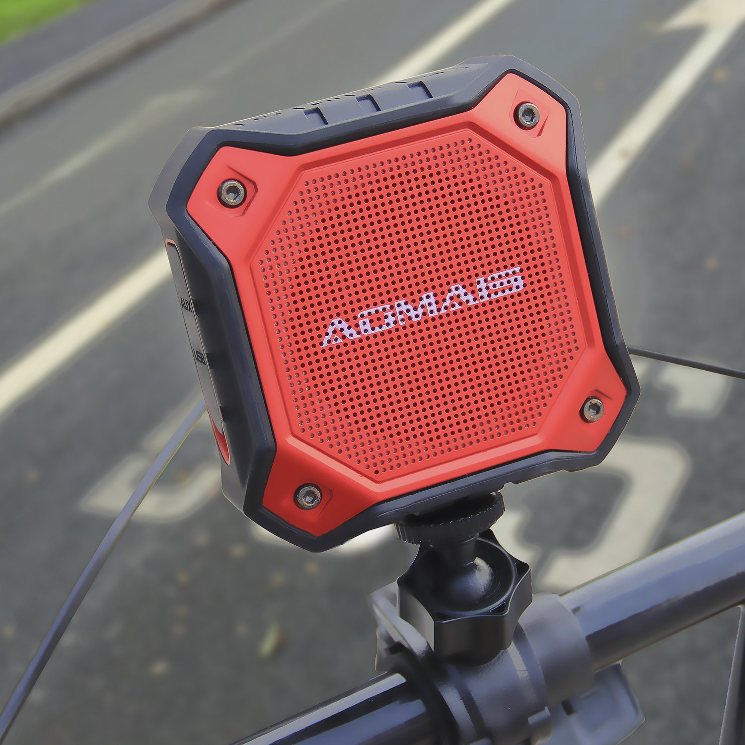 AOMAIS Ultra Portable Wireless Bluetooth Speakers 8W Loud Sound, Waterproof IPX7 Shower Speaker,Stereo Pairing Home Party, Outdoor, Beach, Travel (Red) by AOMAIS (Image #7)