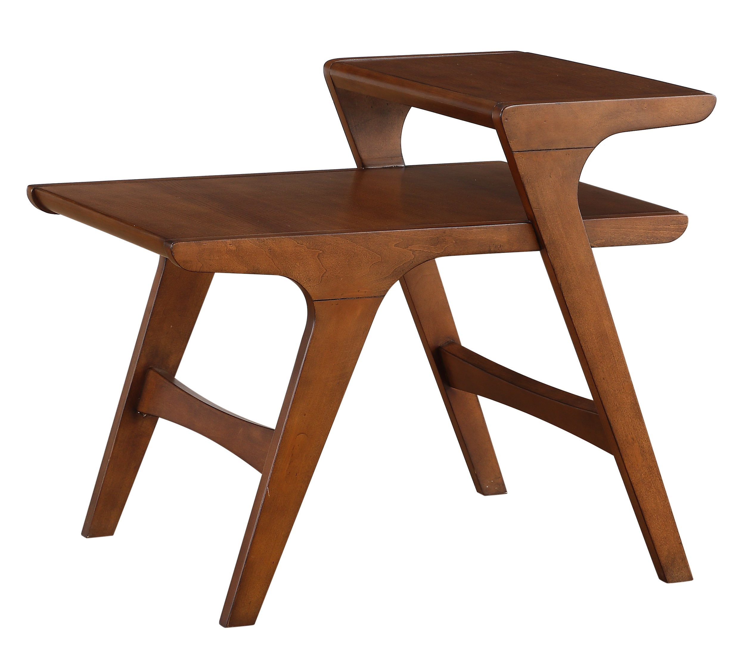 Homelegance Saluki Mid-Century Two-Tier End Table, Cherry by Homelegance