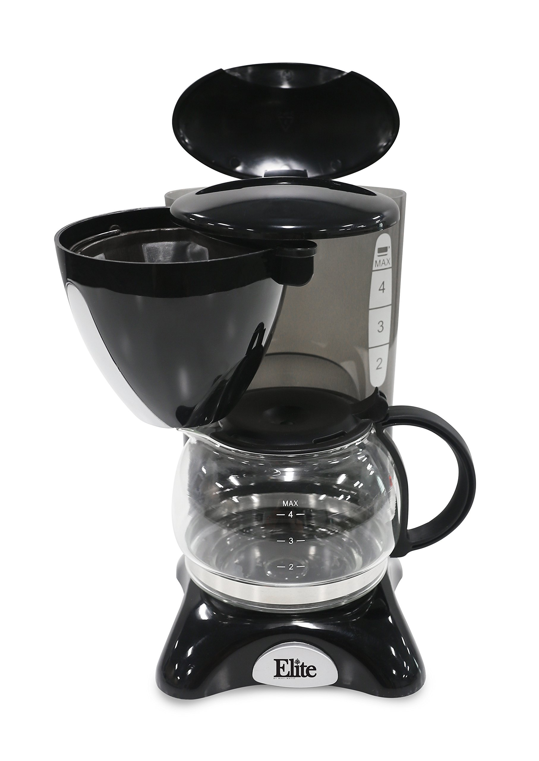 Elite Cuisine EHC-2022 Maxi-Matic 4 Cup Coffee Maker with Pause and Serve, Black by Maxi-Matic (Image #3)