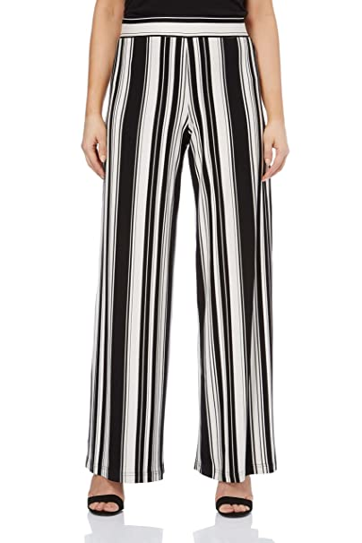Beautiful Ladies Black Summer flare trousers Everyday Trousers Pleated Trousers