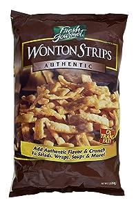 Sugar Foods Fresh Gourmets Wonton Strips, 1 Pound -- 10 per case.