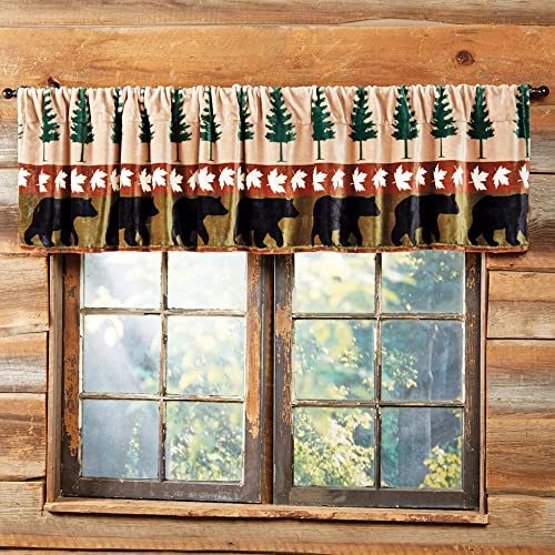 BLACK FOREST DECOR Bear Mountain Plush Valance – Overstock