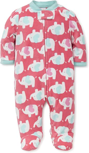 Amazon.com: Little Me Baby Girls' Blanket Sleeper: Infant And Toddler  Sleepers: Clothing