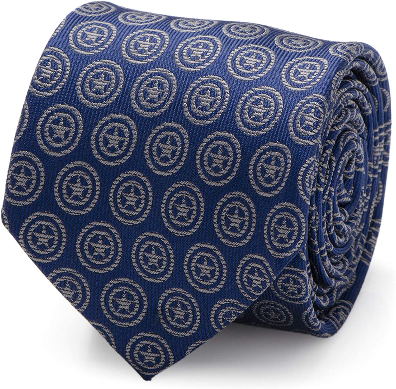Captain America Shield Blue Men's Tie