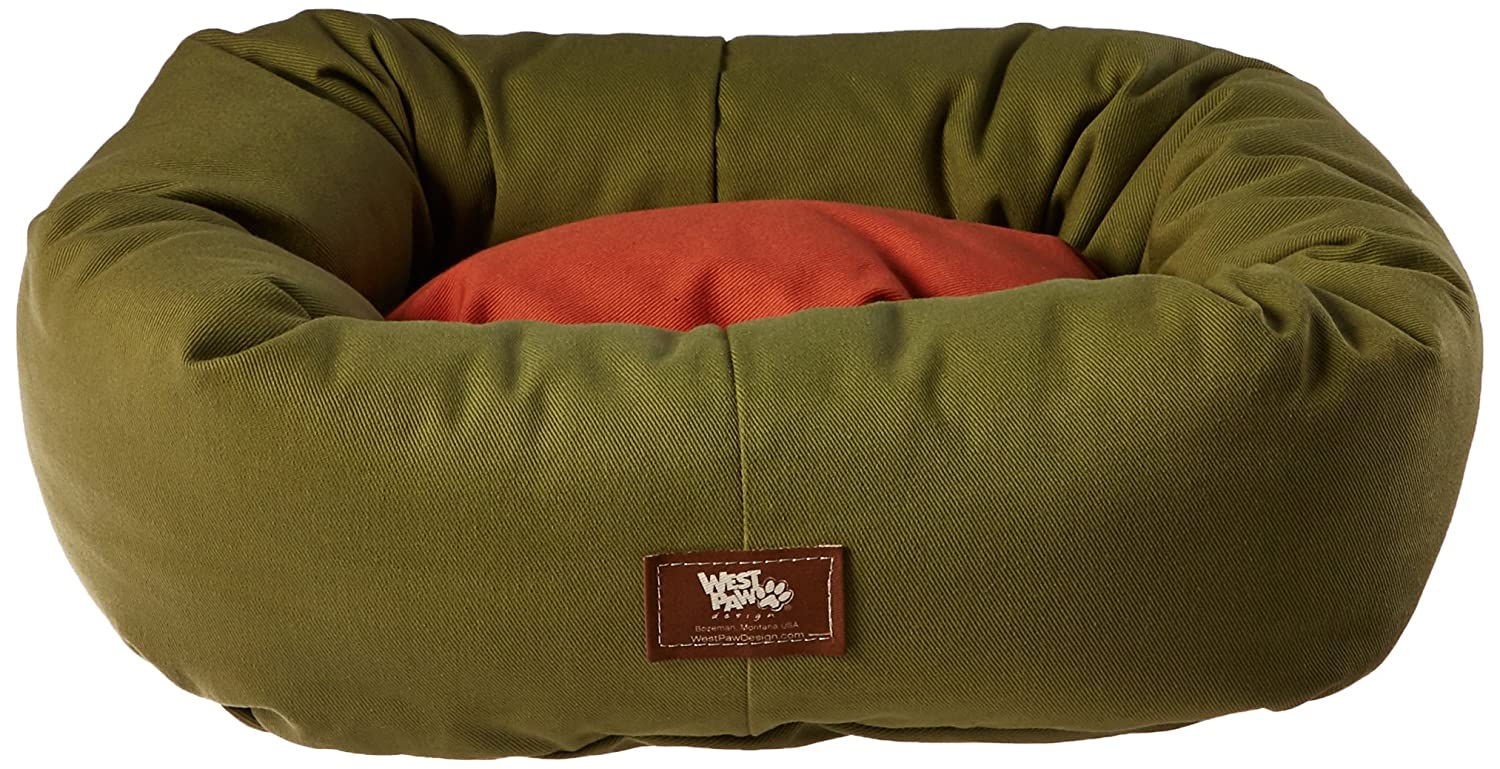 18-Inch by 16-Inch West Paw Design Bumper Bed X-Small 18-Inch by 16-Inch Stuffed Dog Bed, Jungle Pottery