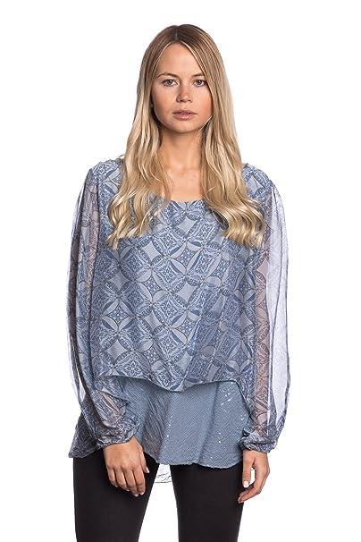 Abbino 6053 Blusa Top para Mujer 5 Colores - Entretiempo Primavera Verano Otoño Mujer Femenina Elegante Camisa Vintage Moderno Rebajas Manga Larga ...