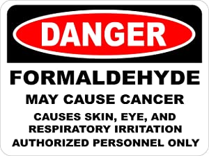 INDIGOS UG - Sticker - Safety - 5-Set - Warning - OSHA Formaldehyde May Cause Cancer Sign 355mmx254mm - Decal for Office - Company - School - Hotel