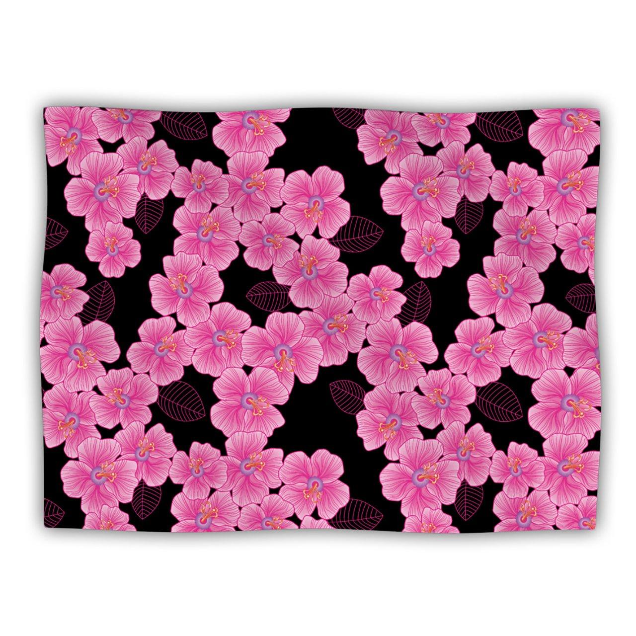 Kess InHouse Julia Grifol Pink on Black  Dog Blanket, 60 by 50-Inch