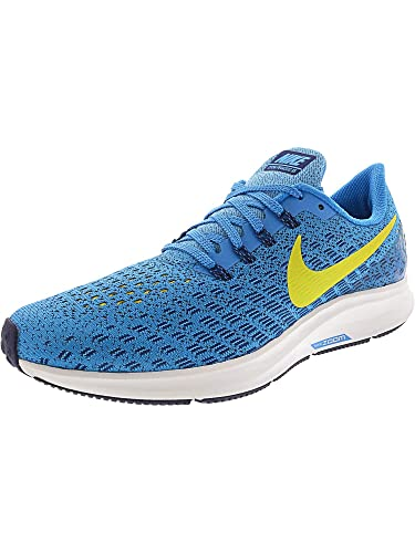 3221e2760a4 NIKE Men s Air Zoom Pegasus 35 Running Shoe Blue Orbit Bright Citron Blue  Void