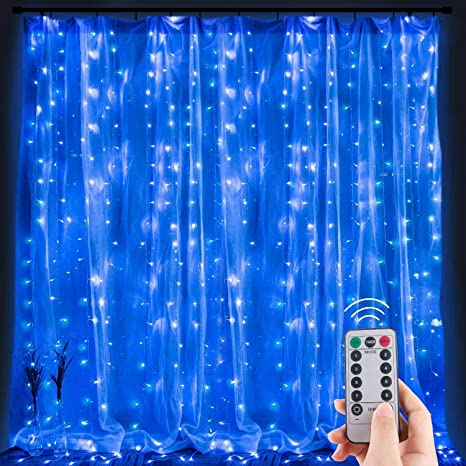 6Mx3M LED Fairy Curtain String Light Hanging Backdrop Wall Window Lights Party