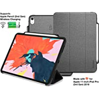Sandwich® Case Plus™ for Apple iPad/iPad Pro with Apple Pencil Holder (iPad Pro 11 (2018), Gray)