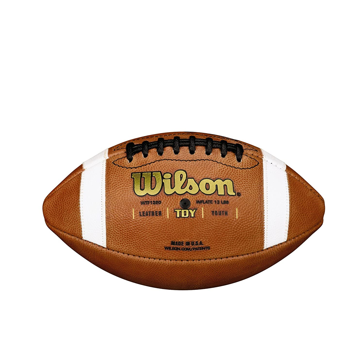 Amazon.com : Wilson GST TDY Youth Leather Football : Pee Wee ...