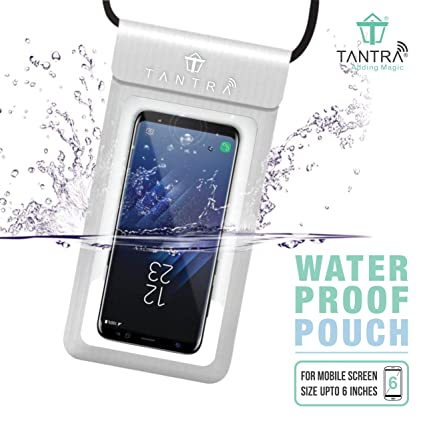 competitive price fa335 784f9 TANTRA® Universal Mobile Phone Waterproof Case with IPX8 for iPhone X, 8, 8  Plus, 7, 7plus, 6, 6s, 6s Plus, Galaxy S9/S9 Plus/s8/s7 Google Pixel, ...