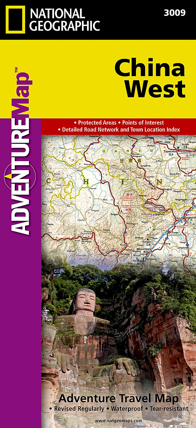 National Geographic Map Of China.China West National Geographic Adventure Map National Geographic