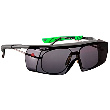6f5ea89aa NoCry Tinted Over-Spec Safety Glasses - with Anti-Scratch Wraparound Lenses,  Adjustable