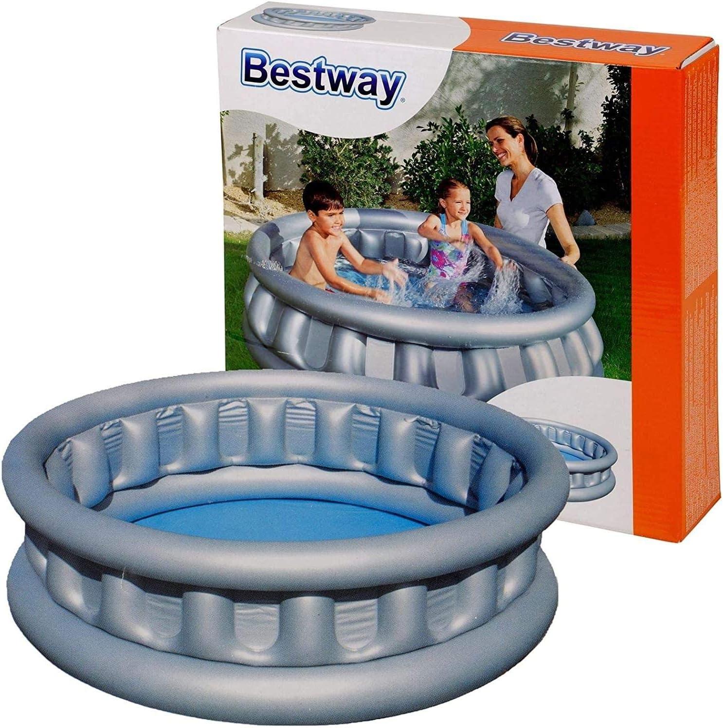 Piscina hinchable para exteriores con diseño de barco para piscinas: Amazon.es: Hogar