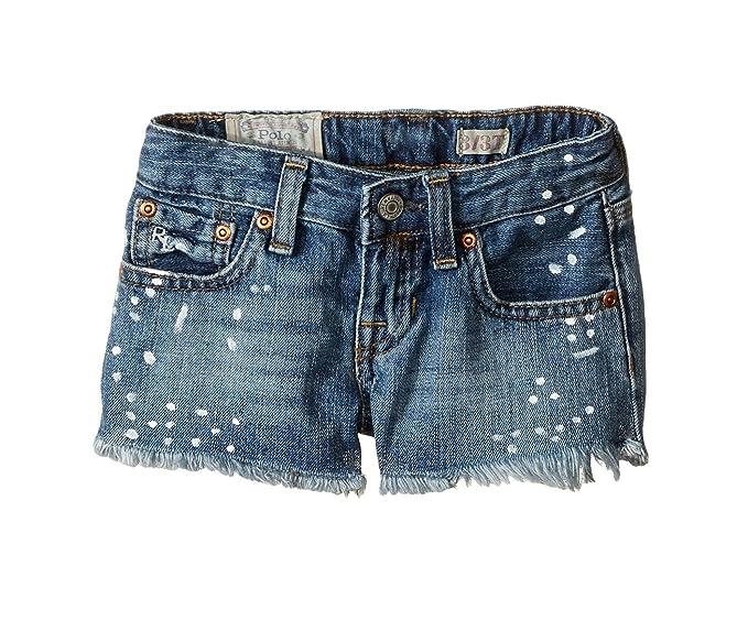 f8fe4ee25 Ralph Lauren Polo Girls Paint Splattered Denim Shorts (12 Big Kids ...