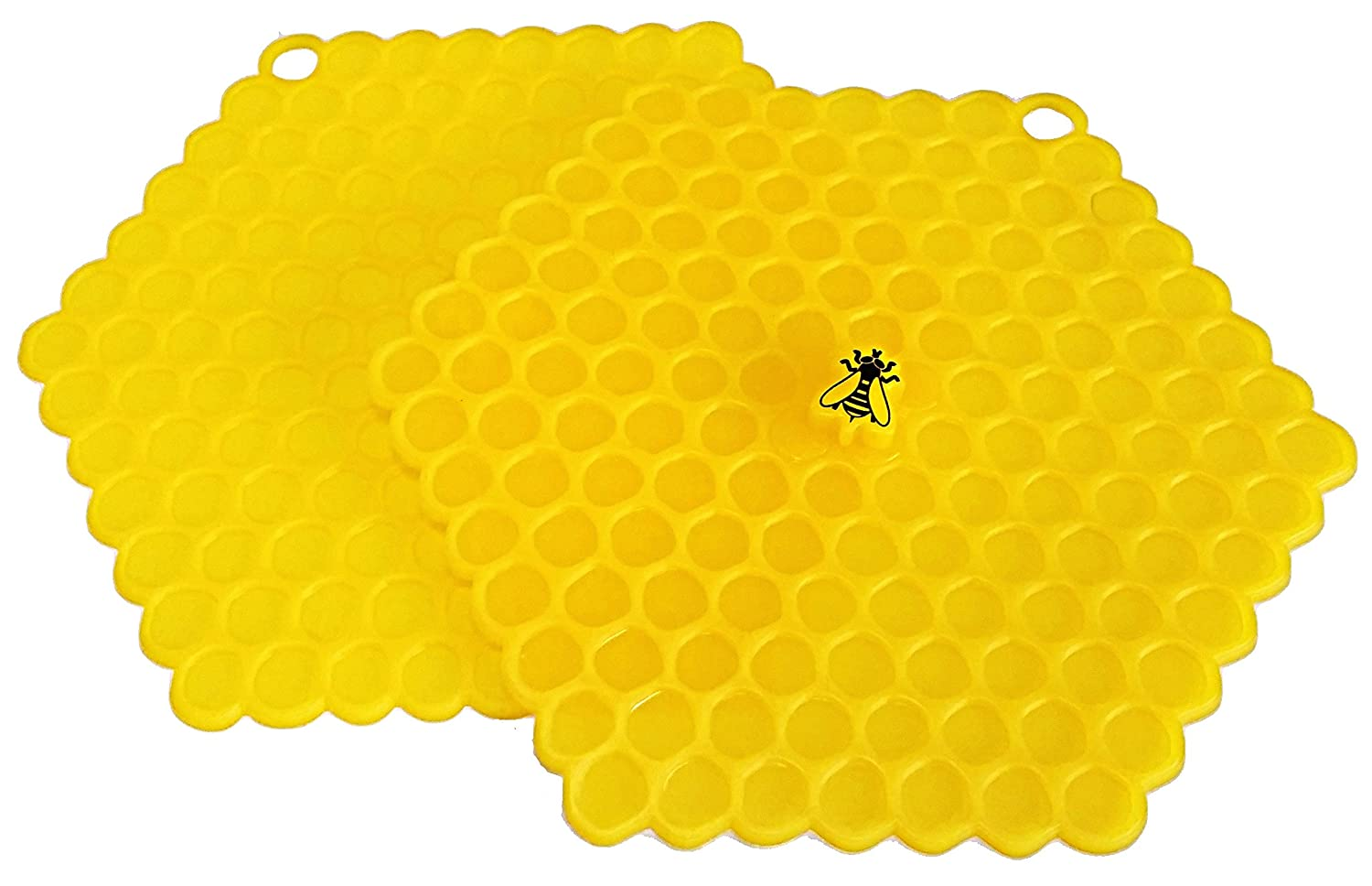 100 Goods Silicone Bee on Honeycomb All-weather Suction Lid , 8