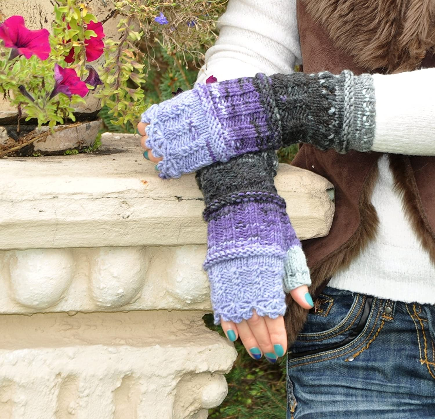Long Cable Mittens, Fingerless Gloves, Knitted Mittens Thumb Hole Gloves, Crochet Winter Mittens, Sweet Girls Women Mittens, Hand Wrist Winter Warmer Knitted