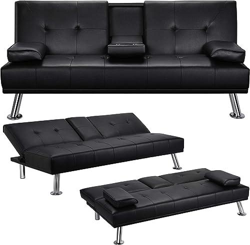 YAHEETECH Futon Sofa Bed Convertible Sofa Couch Sleeper