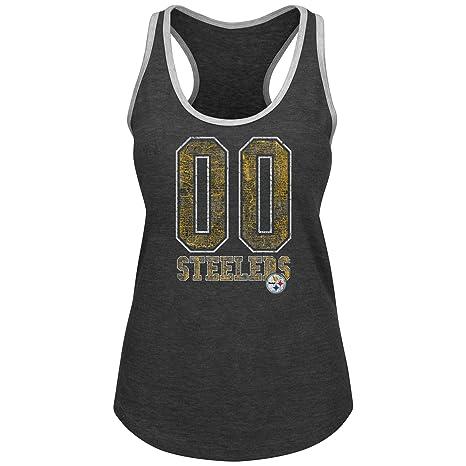 450fb2ae7dd Amazon.com : Profile Big & Tall NFL Pittsburgh Steelers Adult Women ...