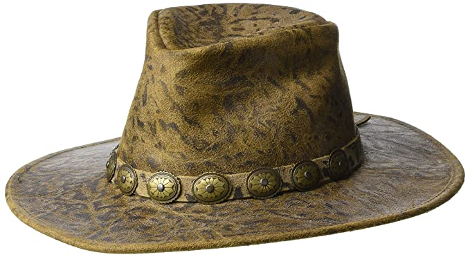Amazon.com  Henschel Hats - WALKER Crunch Leather Western Cowboy Hat - Made  in the USA  Sports   Outdoors c439ba63e5e