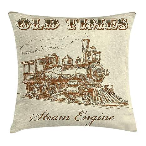 Funda de cojín para motores de vapor, diseño vintage con ...