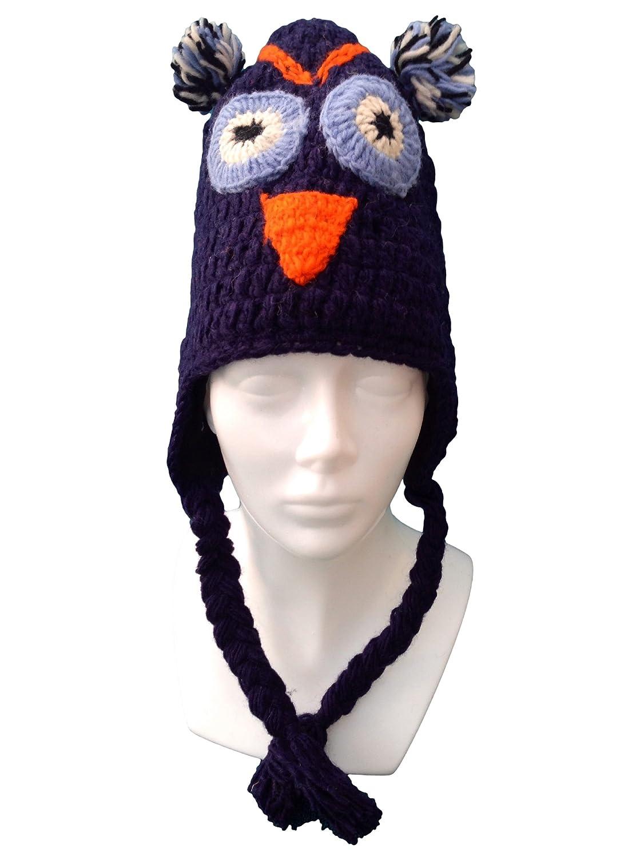 Mehrere Designs- handgestrickt, hochwertig, 100% Wolle, Novelty Character Hats-Festival-Skifahren
