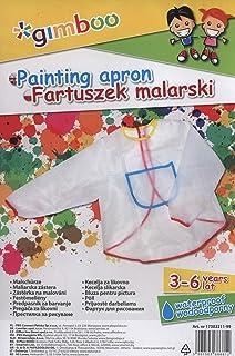 K2M - Delantal de pintura, plástico transparente, 3 bolsillos, 3-6 años