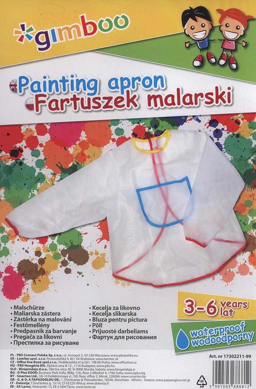 Fartuszek malarski, rozmiar 3-6 lat,mix koloró w Gimboo 50817 Artykuly papiernicze