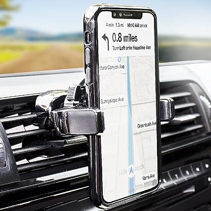 9112cd68a7c8c2 Amazon.com: Olixar Cell Phone Holder for Car Vent - Air Vent Mount Invent  Nova - 360 Degree Rotation - Universal Compatibility: Electronics