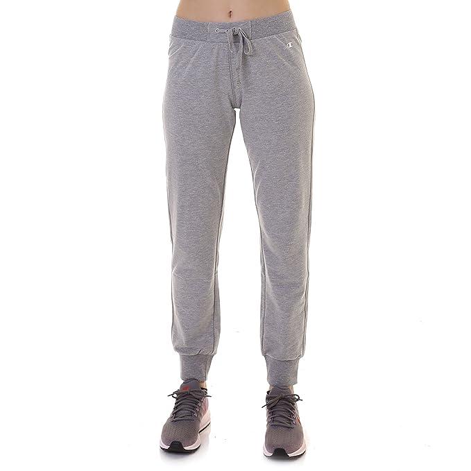 Champion Rib Cuff Pants Pantalones de Deporte, Mujer: Amazon.es ...