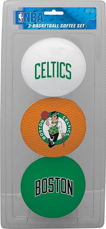 663e5d2e17bad NBA Boston Celtics 3-Ball Soft Basketball Set