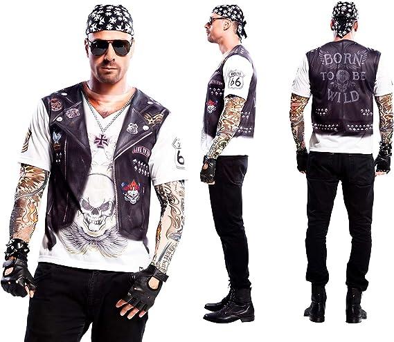 Yijja Fast Fun - Hellboy, camiseta de manga corta para adultos, 2 piezas tatuaje, talla L (Charm Kingdom YJ00022): Amazon.es: Juguetes y juegos