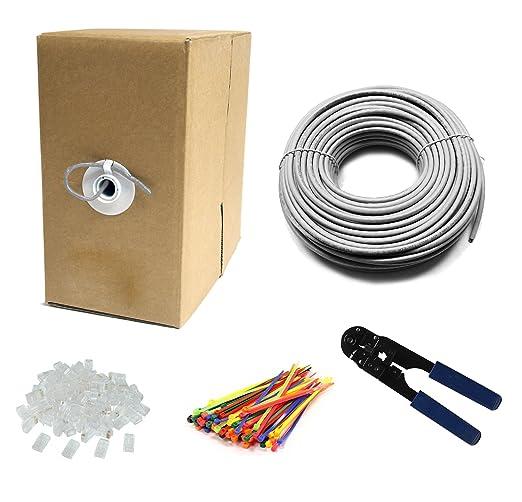 245 opinioni per Multi-Cables- 300M CAT6 24 AWG solido UTP Cavo di rete Ethernet- Con pinza per