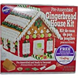 Wilton Pre-Assembled Gingerbread House Kit-Includes Online Cake Decorating Class
