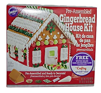 Wilton Pre Assembled Gingerbread House Kit Includes Online Cake Decorating Class