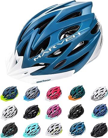 Cascos de Bicicleta de Carretera y monta/ña Cascos de Ciclismo Ajustables BESTEU Casco Ligero para Bicicleta con Visera Desmontable