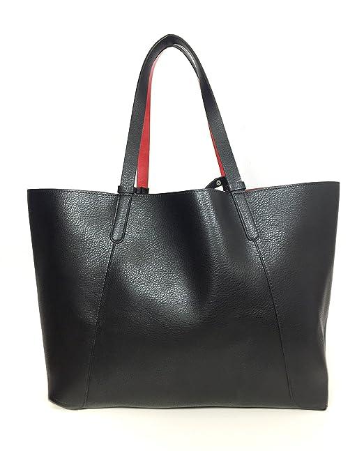 Zara - Bolso de tela para mujer negro negro Medium: Amazon.es: Ropa y accesorios