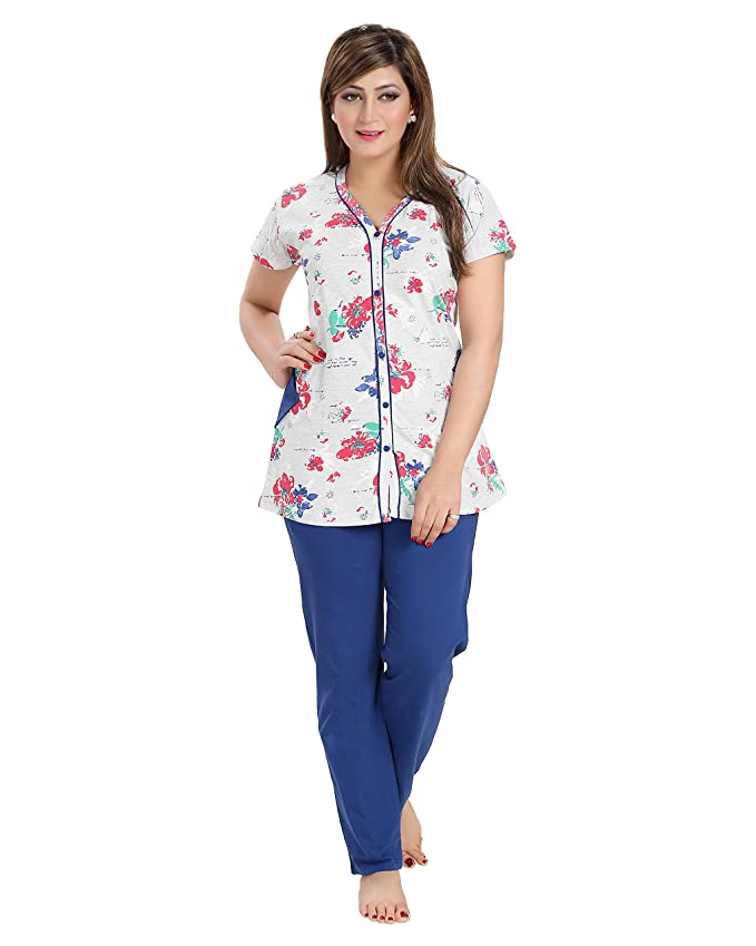 AV2 Women Cotton Printed Nightsuit Women's Pyjama Sets at amazon