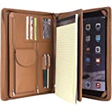 Coface Compact Professional Litchi Grain Leather Organizer Padfolio for Microsoft Surface Pro 3 and Pro 4,Junior Legal (A4)Paper