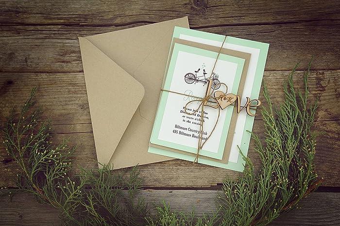 Amazon Com Custom Rustic Wedding Invitation Kits Decorated With